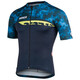 Bioracer Spitfire Camo Jersey SS Men navy blue-fluo yellow